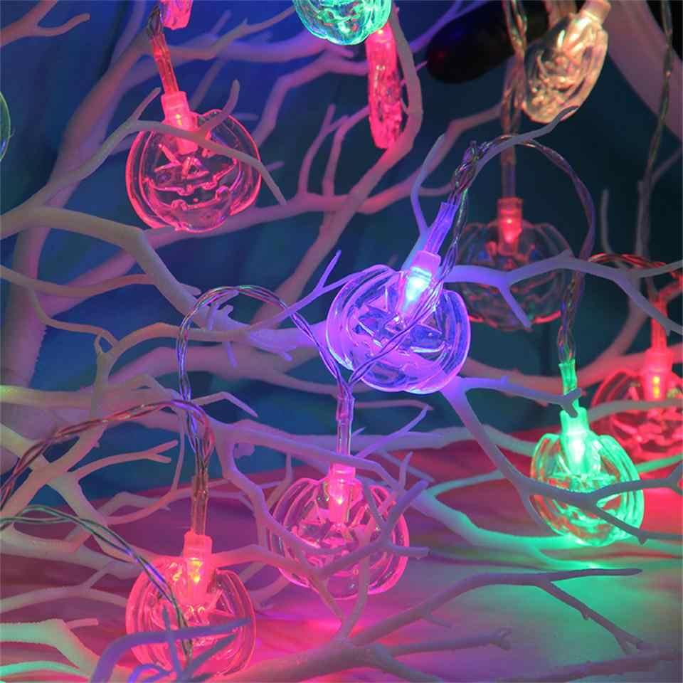 Tronzo Хэллоуин Светодиодный свет гирлянды украшения для хеллоуина, тыква череп летучая мышь гирлянды 1,5 м 10 огни Хэллоуин ужас вечерние принадлежности