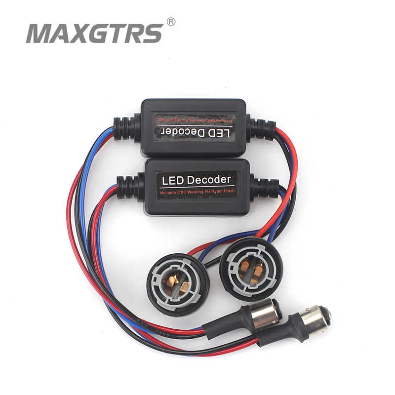 2X 1156 Ba15s 1157 T10 7443 7440 Canbus Turn Signal Wiring No Error Flash Load Resistors LED Decoder Warning Error Canceller
