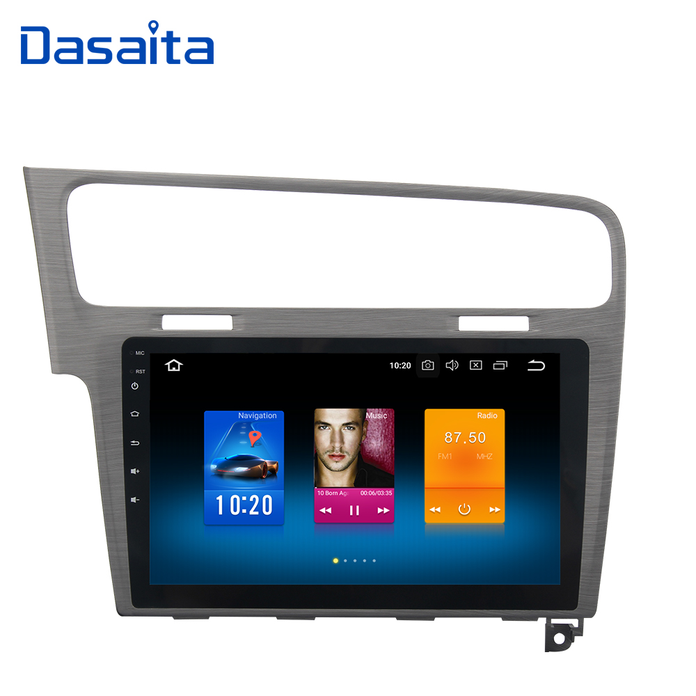 Dasaita 10.2 Android 8.0 Voiture GPS Radio Lecteur pour VW Golf 7 2013 2014 2015 2016 2017 avec Octa core 4 gb + 32 gb Stéréo Multimédia