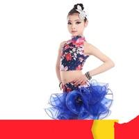 New Girls Latin Dance Skirt Costumes Summer Diamond Tutu Cha Chalumba Latin Dance Dress Competition Service