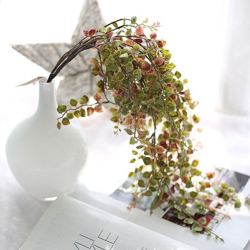"""23.6 """"긴 인공 덩어리 가짜 허니 등나무 녹색은 홈 장식을위한 벽을 남겨 둡니다. 저렴한 인공 식물 핫 세일"""