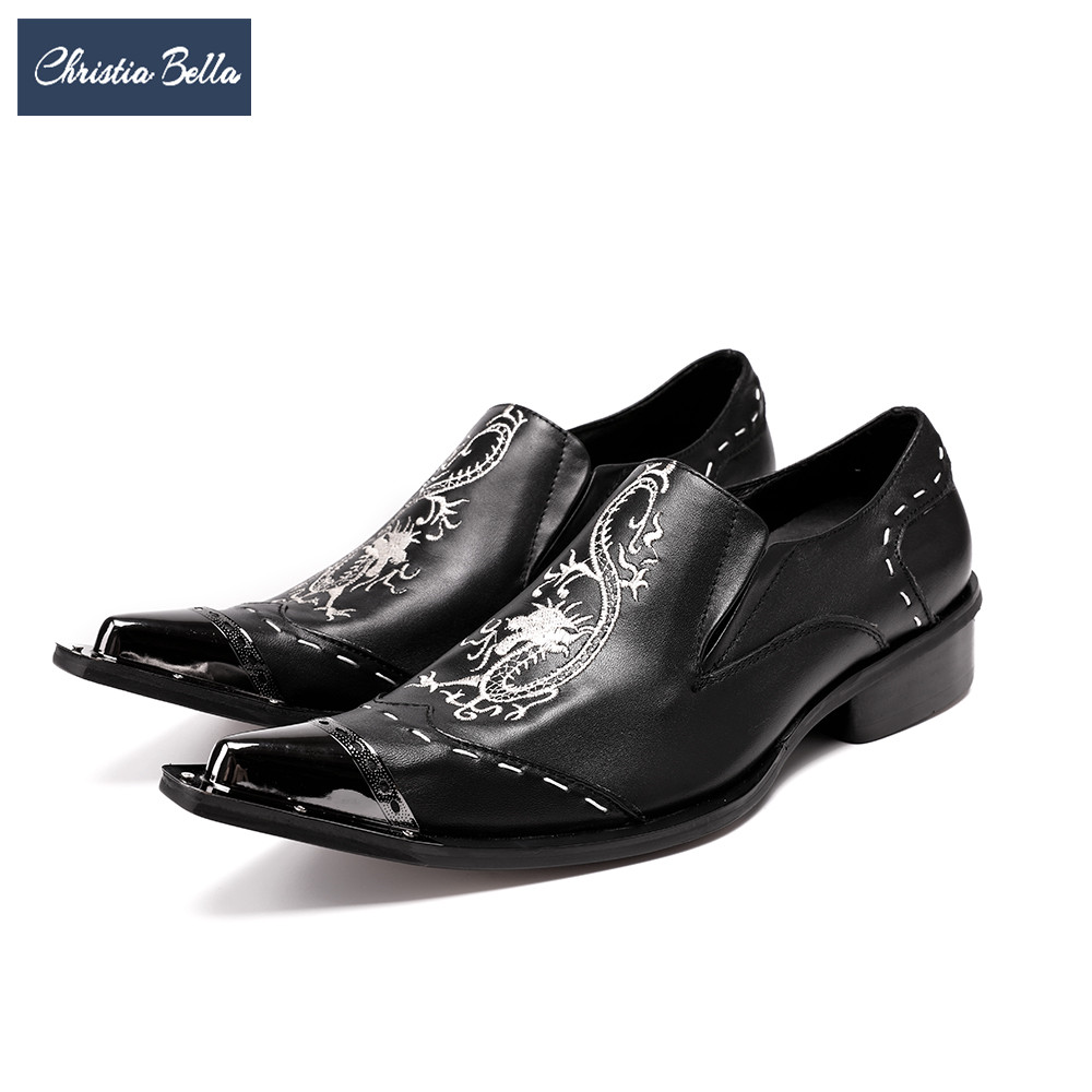 Christia Bella Designer Men Business Shoes Fashion Genuine Leather Pointed Toe Male Dress Shoes Italian Wedding Formal Shoes men shoes genuine leather italian designer fashion dress shoes classic formal brogue shoes for male footwear wedding business