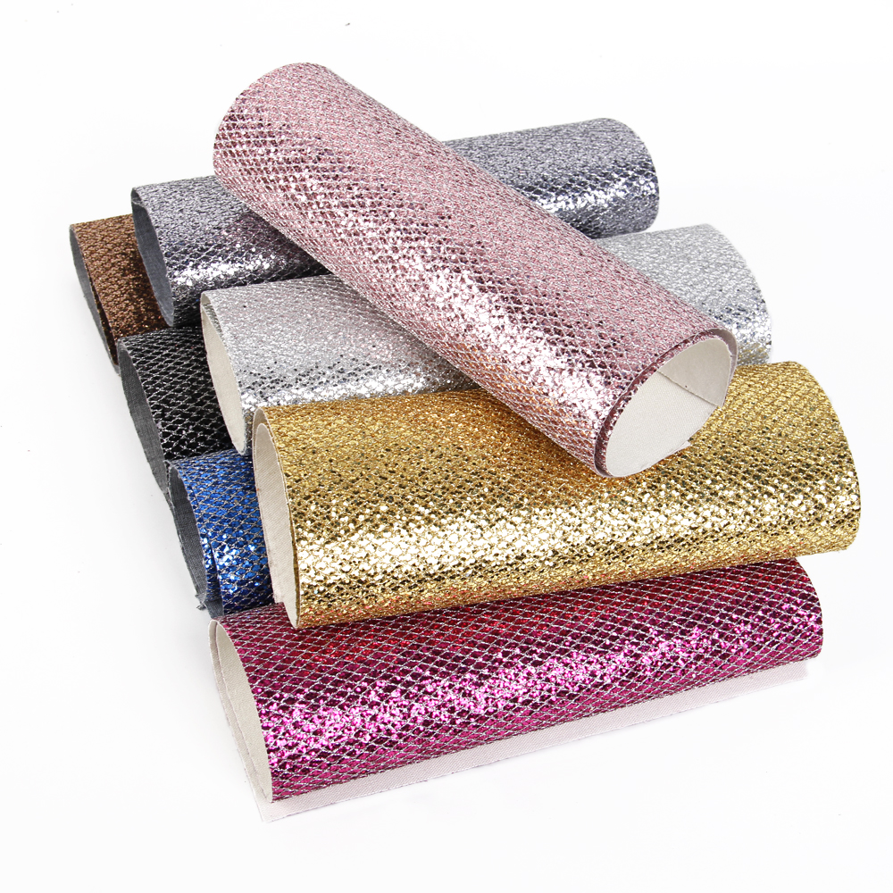 Arts,crafts & Sewing Synthetic Leather Collection Here 20*34cm Glitter Fabric Faux Synthetic Leather Fabric 20 Colors Faux Pu Leather Sheets A4 For Hair Bow Diy Craft Accessories