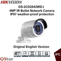 HIKVISION Original English Version DS 2CD2042WD I 4MP 120db Bullet IP CCTV Camera POE IR IP67