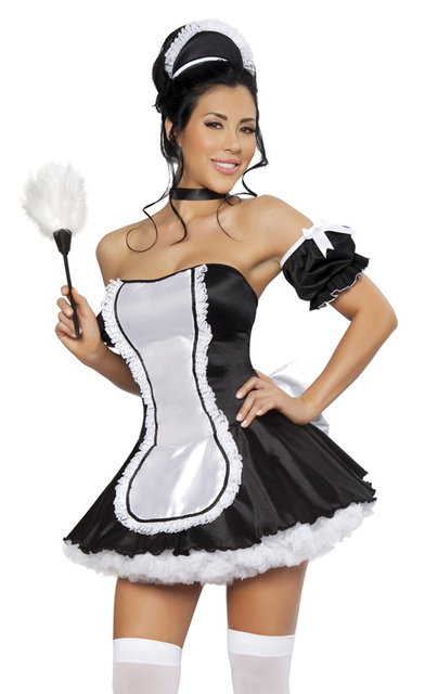 Japanese Maid New Sexy Costumes Cute French Maid Costume -6553