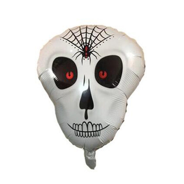 20pcs halloween skeleton head foil balloons skull mylar globos halloween party decorations ballon inflatable toys party - Halloween Skeleton Head