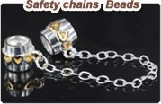 safety chains beads