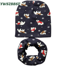 Baby Hat nice camo 100% cotton children hat scarf collar autumn winter baby cap Kids boys girls beanies Infant toddler hats set цена