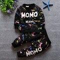 Новинка 2016! Детский осенний набор для мальчика. Рубашка с длинным рукавом и брюки, чернильные всплески. Набор одежды для ребёнка, мальчика.