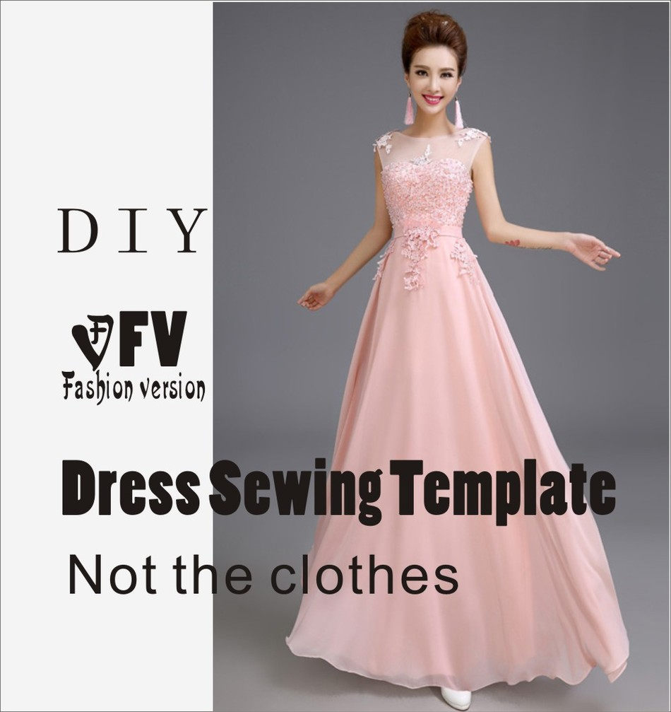 Dresses Sewing Pattern Template Cutting Drawing Clothing DIY ((Not Selling Clothes))  BLQ- 218