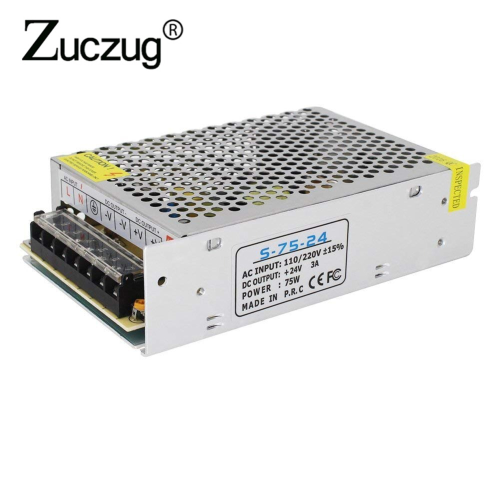 Power Supply ac 110v 220v to dc 24V 3A 72W led driver for LED Strip Transformer Adapter Switching lab 24 V lighting transformers led driver transformer waterproof switching power supply adapter ac170 260v to dc48v 200w waterproof outdoor ip67 led strip