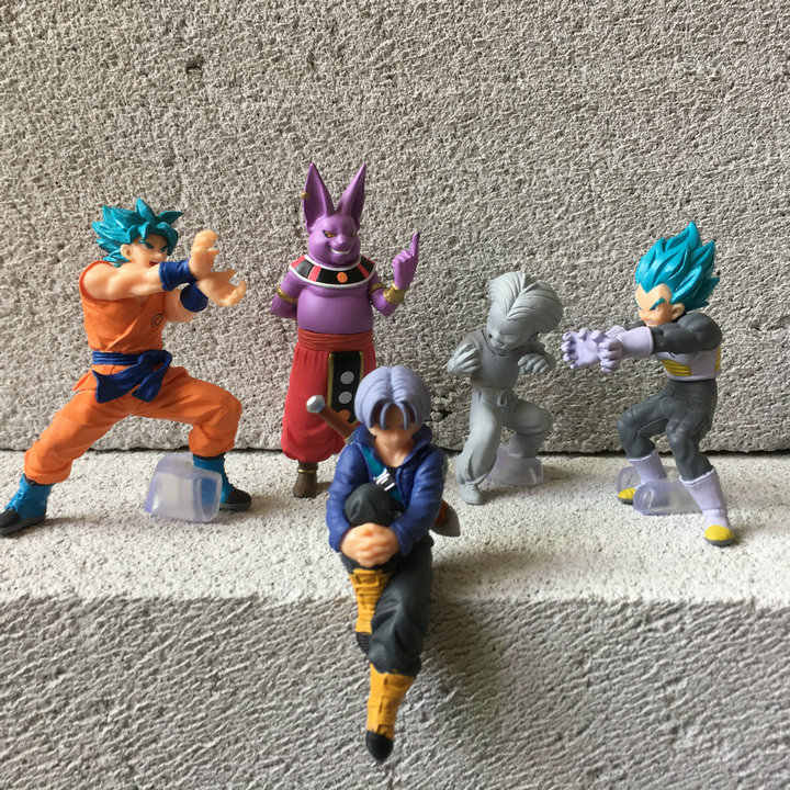 6cm original Japonês figura anime dragon ball mini Shanpa Goku Vegeta action figure collectible modelo brinquedos para meninos
