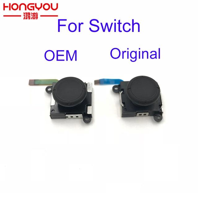 30Pcs Repair Part 3D Joystick Button Analog Sticks Controller Thumbstick Replace for NS NX Nintendo Switch Joy Con W/ Flex Cable