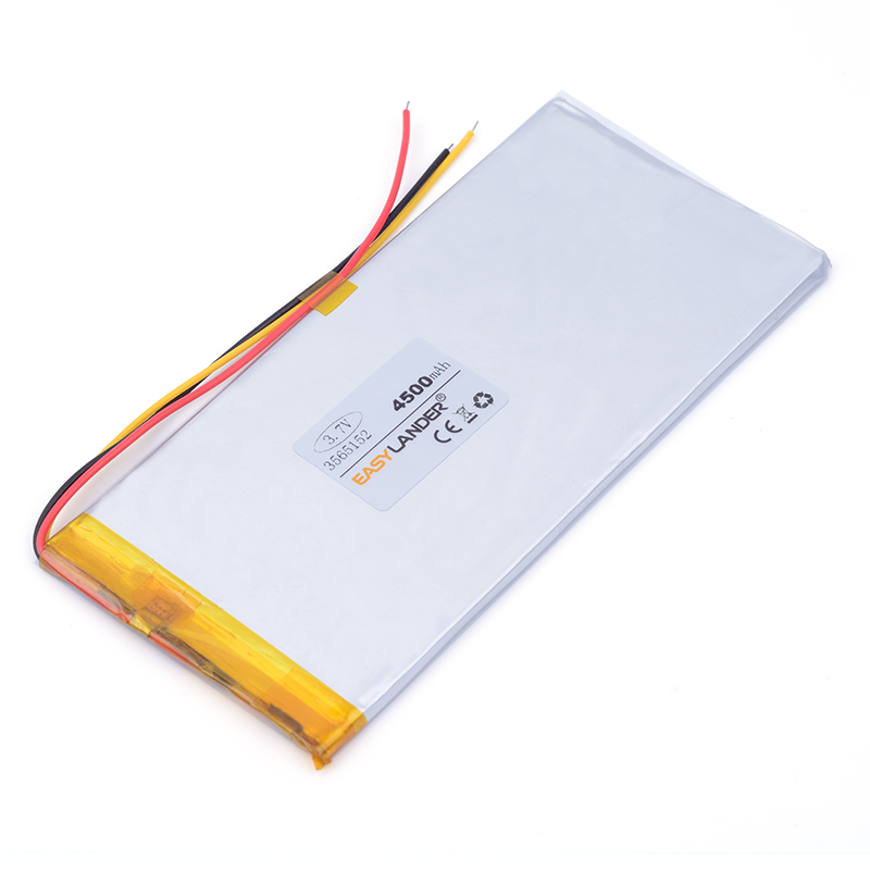 ion li - battery 3- wire 3.7V 4500mAh 3565152 Polymer lithium ion / Li-ion battery for tablet pc POWER BANK pipo cell phone 3 7v polymer lithium battery 9074135 20000mah large capacity mobile power charging treasure diy rechargeable li ion cell