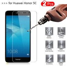 2PCS Tempered Glass Huawei Honor 5C Screen Protector Film Protective For Honor5c Nem-L51 Nem L51 L22