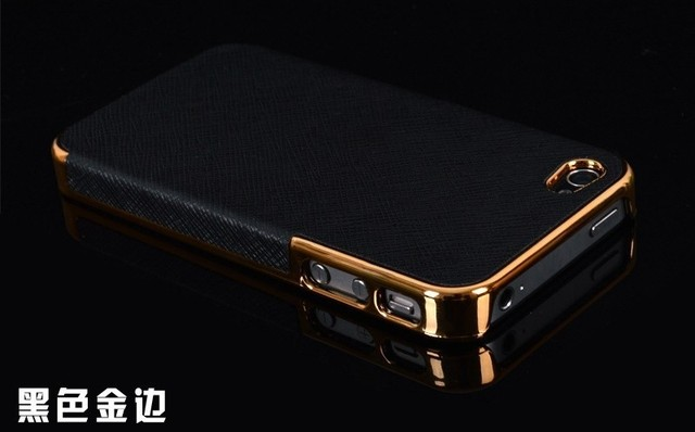 the best attitude e9210 f64be US $1.95 |HOT ! Business Style Gold Frame Luxury Back Cover Cross Pattern  Leather Case for Apple iPhone 4 4s 5 5s Hard Cover for iPhone4 on ...
