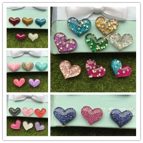 Mixed color 10pcs Kawaii heart love resin crafts,flatback resins cabochon for hair bows, home decoration accessories,DIY