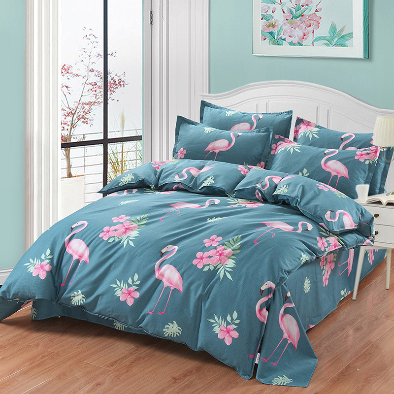 New pattern Flower ostrich bedding sets Twin/Full/Queen/King Size Bedding Linen Quilt cover Duvet Cover Set bed SheetNew pattern Flower ostrich bedding sets Twin/Full/Queen/King Size Bedding Linen Quilt cover Duvet Cover Set bed Sheet