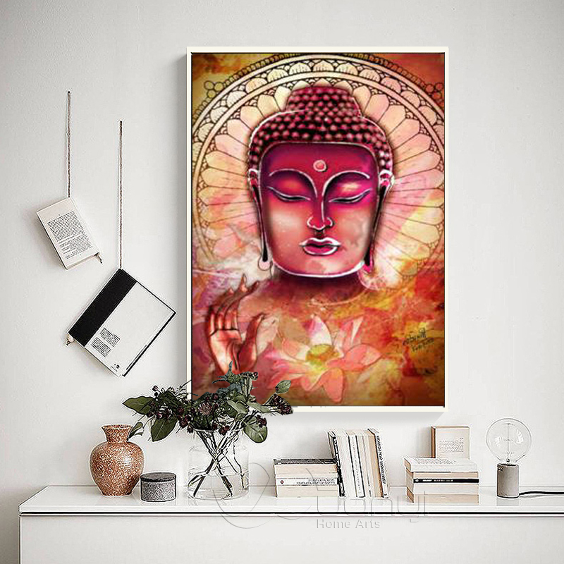 Us 4 47 48 Off 3 Pcs Large Buddha Canvas Wall Art Painting Buddha Picture Canvas Painting Home Decor Abstract Poster For Living Room Unframed In