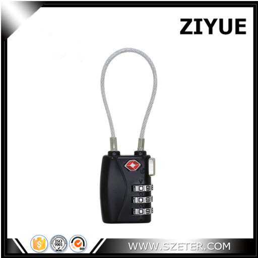 Free Shipping Zinc Alloy <font><b>TSA</b></font> Luggage Suitcase Travel Cable Lock <font><b>Padlock</b></font> 3 Digit Combination Locks image