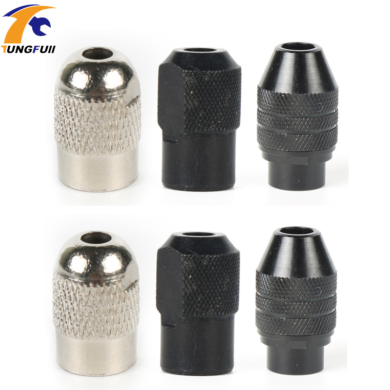 Tungfull 2pc/lot Universal Multi Keyless Dremel Chuck Mini Drill Collet For Rotary Tool 0.5-3.2mm