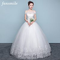 Fansmile Applique Vintage Lace Gowns Wedding Dress Plus Size 2018 Customized Bridal Wedding Dress Turkey Shipping Free FSM 437F