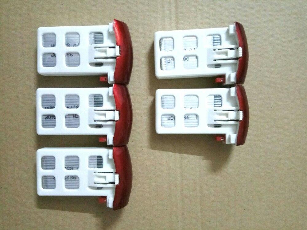 Upgrade prower 3.7V 500mAh Lipo Battery for X5UW X5UC drone 5pcs  7 4v 500mah 50c lipo battery