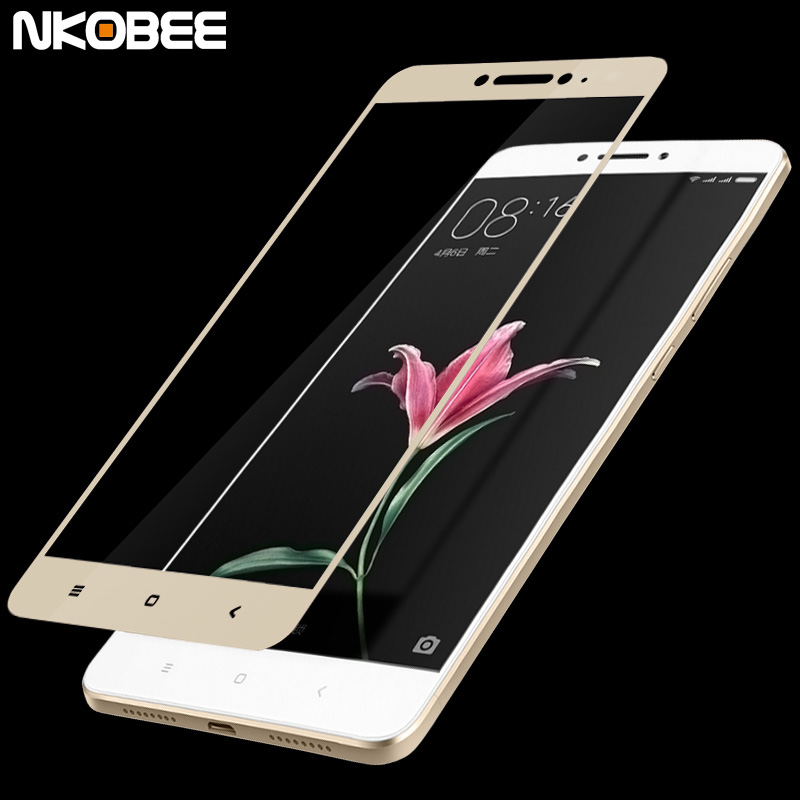 NKOBEE Full Cover Tempered Glass for xiaomi mi max Screen Protector Film for xiaomi mi max smart mobile phone accessories