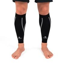 Kuangmi 2 Pcs Calf Support Graduated Compression Sleeve Legwarmer Cycling Sports Sock Football Shin Guard Running Protector Wrap