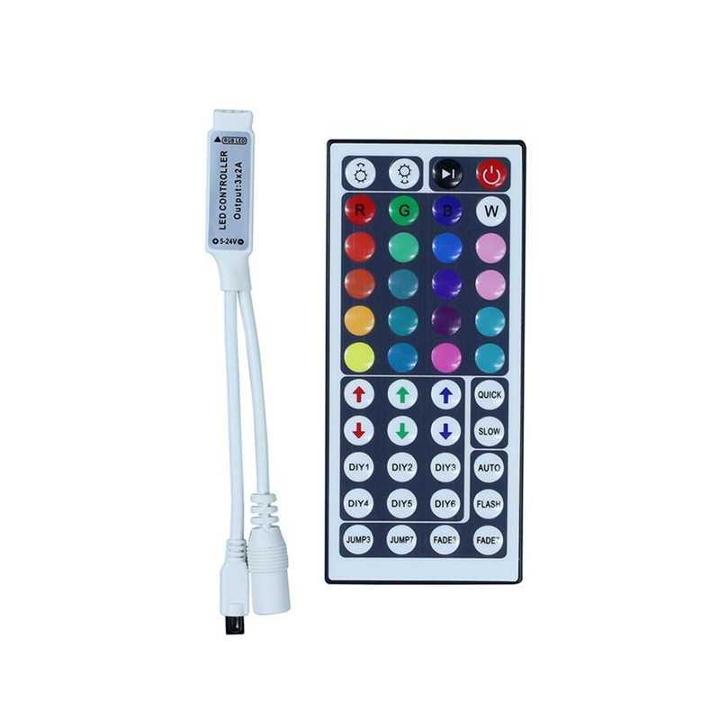 DC12V 24Key kontroler 44Key kontroler IR zdalny pilot RGB pilot na podczerwień dla RGB taśmy led 5050 3528