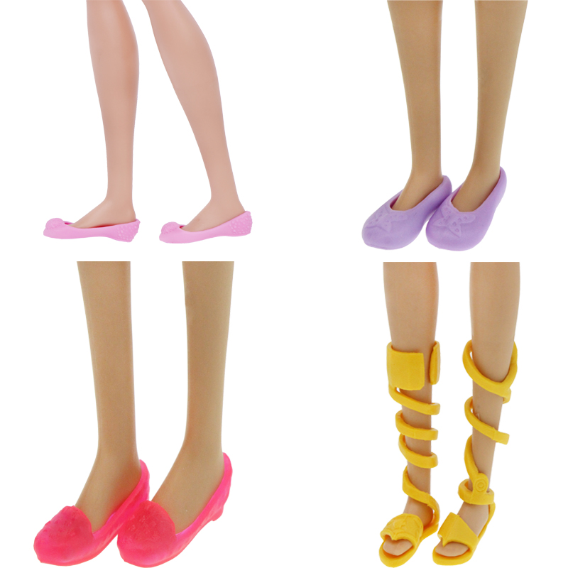 High Quality Flat Shoes Mixed Style Cute Sandals Daily Casual Wear Colorful Accessories For Barbie Doll Dollhouse Kids Toy Gift