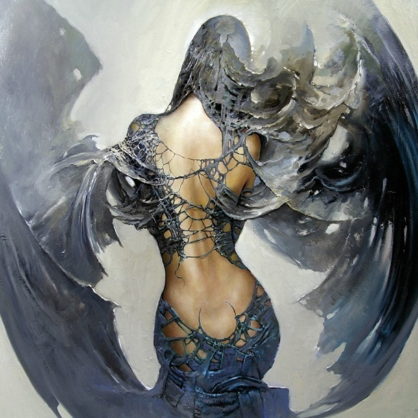 Printed classic sexy girl angel oil painting prints on - Sensual paintings for the bedroom ...