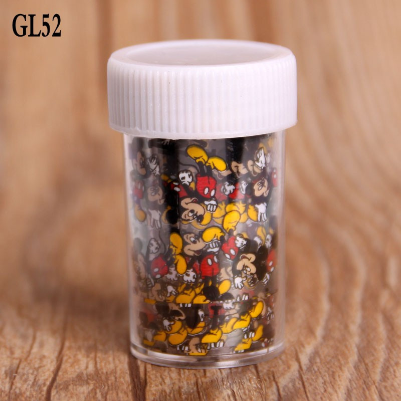 1 Roll Mickey Mouse Nail Art Transfer Foils Sticker Beauty Free Adhesive Nail Polish Wrap Nail Tips Decorations Accessories designs nail art transfer foils sticker 12pcs lot hot beauty free adhesive nail polish nail tips decorations accessories