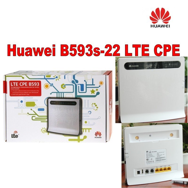 все цены на Lot of 50pcs Huawei B593 unlocked 4G LTE router + 2pcs antenna of B593,DHL shipping онлайн