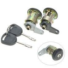 1 Set Front Door Lock Barrel Keys Set For Ford for Fiesta 1995 – 2002 KA 1996 – 2008 Courier Escort 1995 – 2001