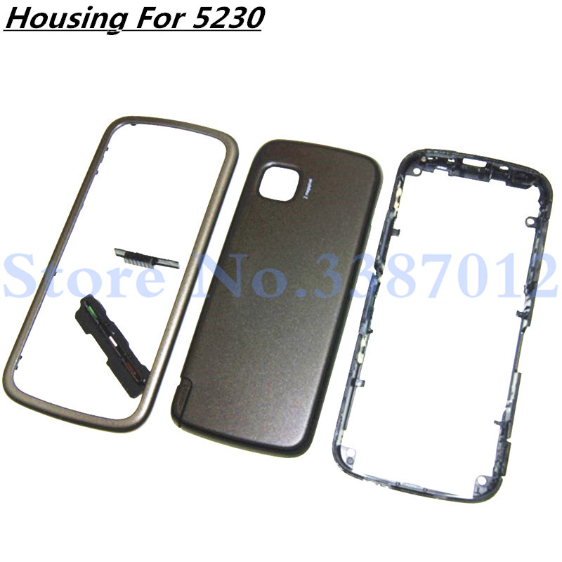 New High-quality Full Complete Mobile Phone Housing Cover <font><b>Case</b></font>+ Keypad For <font><b>Nokia</b></font> <font><b>5230</b></font> image