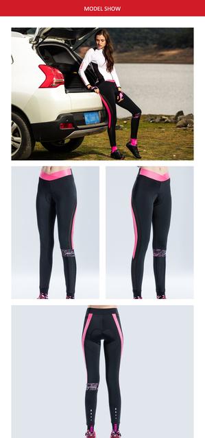 Santic kobiety drukuj poduszka MTB spodenki na rower pro fit 4D wyściółka oddychające spodnie MTB rower szybkie suche odblaskowe spodnie tanie i dobre opinie Poliester Elastyczny pas WOMEN Dzianiny Pasuje mniejszy niż zwykle proszę sprawdzić ten sklep jest dobór informacji