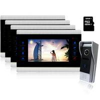 YSECU 10 Inch Video Door Intercom Door Phone Recording Doorbell Camera Intercom HD Additional Monitor Support