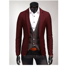 8 color 2017 new brand clothing linen jacket mens personality Popular single-button suit Slim casual 3XL