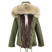 2018 Soperwillton Winter Army Colors Luxury Real Fur hooded Jackets Men's Coat Military Couple Classic Thick Male Female Parkas