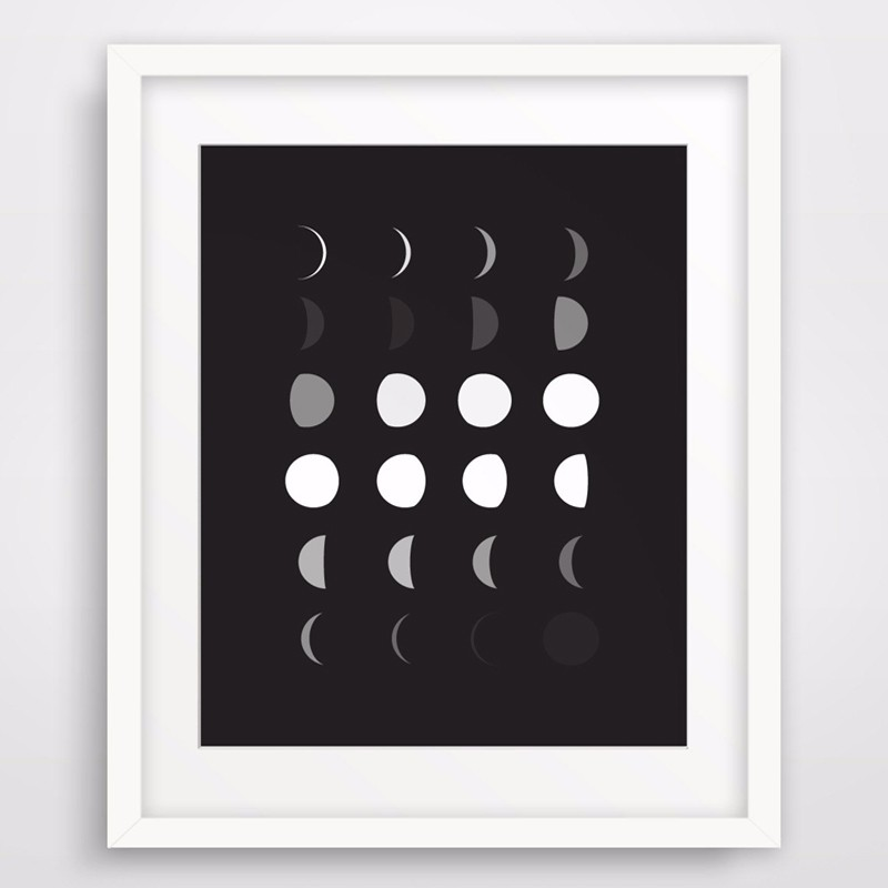 image regarding Moon Phases Printable known as US $7.99 Very hot Moon Move Print, Printable Wall Artwork, Black and White Wall Artwork Progressive Wall Consider Canvas Artwork Poster Oil Portray No Body-within Portray