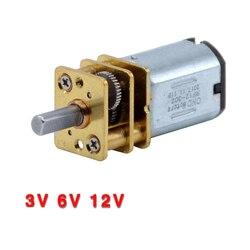 Мини-двигатель с редуктором, 3 в, 6 в, 12 В постоянного тока, N20, 15, 30, 50 об/мин, 100, 200 об/мин, 300, 500, 1000 об/мин