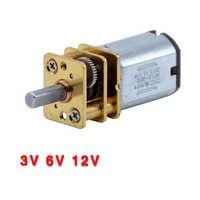 3V 6V 12V DC N20 Mini Micro Metall Getriebe Motor mit Zahnrad DC Motoren 15 30 50RPM 100 200RPM 300 500 100 0 RPM