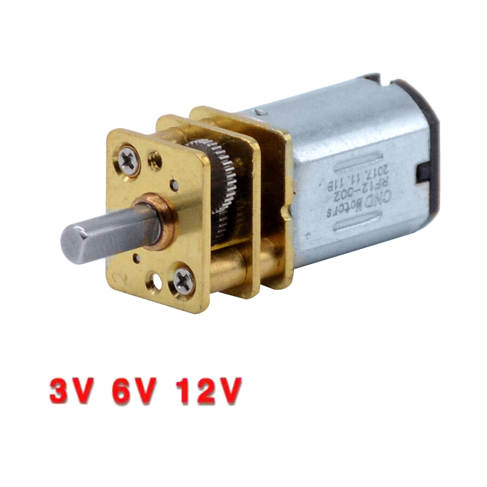 3V 6V 12V DC <font><b>N20</b></font> Mini Micro Metal <font><b>Gear</b></font> <font><b>Motor</b></font> with Gearwheel DC <font><b>Motors</b></font> 15 30 50RPM 100 200RPM 300 500 1000 RPM image