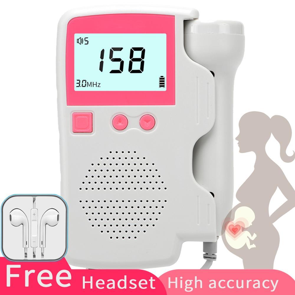 Doppler Fetalen Herz Rate Monitor Home Pregancy Baby & Fetal Sound Herz Rate Detektor Lcd Display Keine Strahlung 3,0 Mhz Erfrischung Fetaldoppler Schönheit & Gesundheit