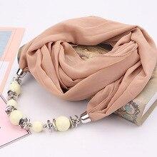 0877b639f47f LaMaxPa Nouveau Design Pendentif Écharpe Pour Femmes Accessoires Hijab  Femme Élégante Pendentifs Écharpe EP Résine Alliage