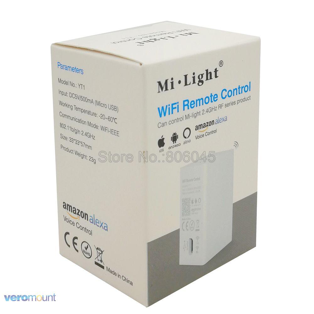 Milight YT1 Remote Controller Amazon Alexa Voice Control WiFi Wireless &  Smartphone APP Control work with Mi.light 2.4G Series