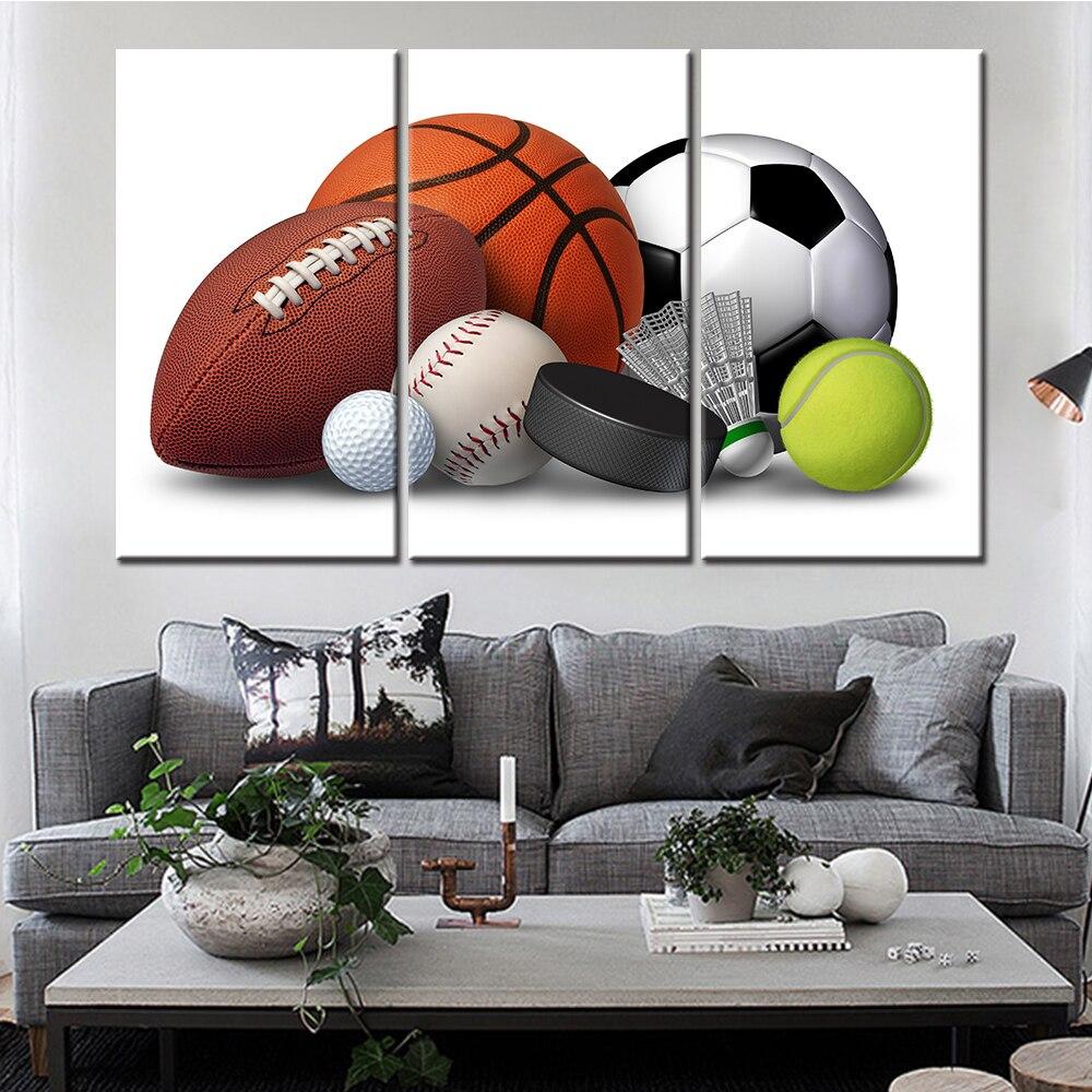 Basketball Sports Canvas Wall Art For Boys Bedroom Decor: Aliexpress.com : Buy Modern Canvas Painting Wall Art