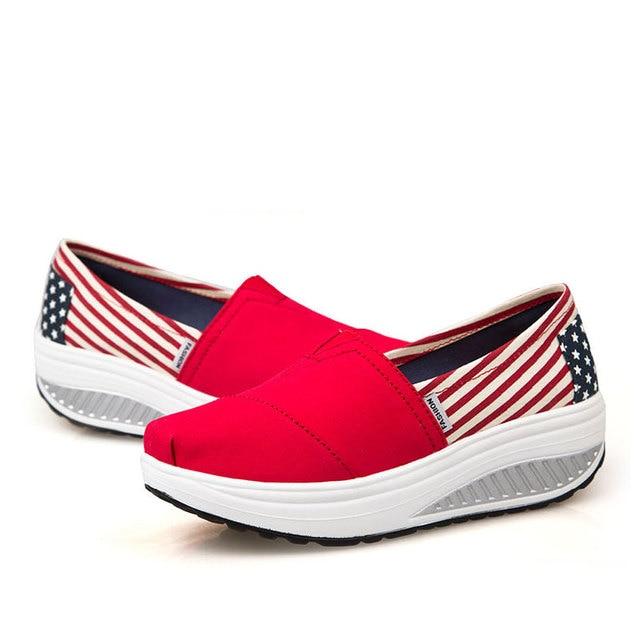 04f8630774 altura crescente 2015 verão calçados femininos desporto sapatilhas fashion  running tênis para mulheres sapatos cunhas swing