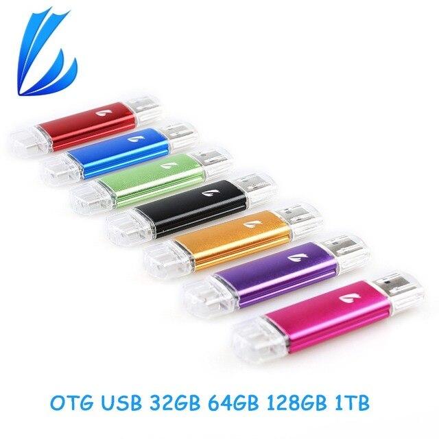 LL ТРЕЙДЕР Для OTG USB 2.0 Flash Drive 1 ТБ 128 ГБ 64 ГБ 32 ГБ хранения Pendrive Memory Stick Micro USB Flash Pen Drive Палку